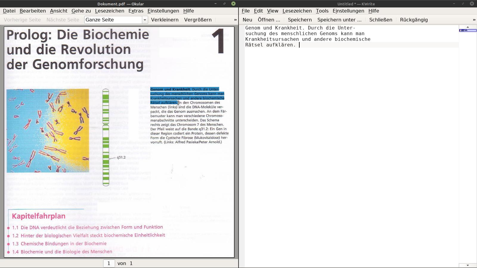 """Auszug aus """"Biochemie"""" des Spektrum-Verlages."""